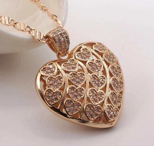 CHERYL Heart Necklace - rosetose