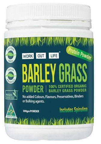 Work Out Life Barley Grass and Chlorella Protein Powder - 300 g