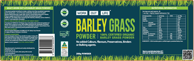 Work Out Life Barley Grass Protein Powder