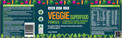 Work Out Life Veggie Superfood Powder