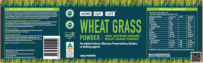 Work Out Life Wheat Grass Protein Powder
