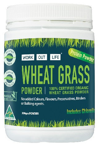 Work Out Life Wheat Grass with Spirulina Powder - 300g