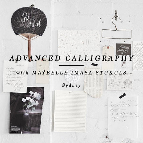 CALLIGRAPHY – AFTERNOON ADVANCED – SYDNEY