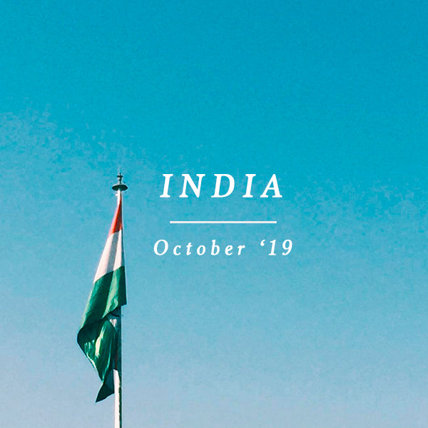 INDIA EXCURSION 12 - 17 OCTOBER 2019