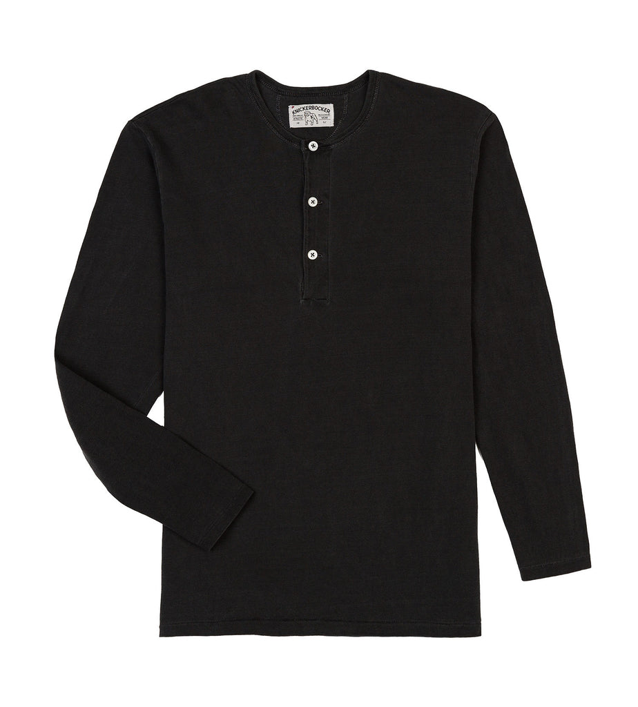 ls henley tube tee black detail one