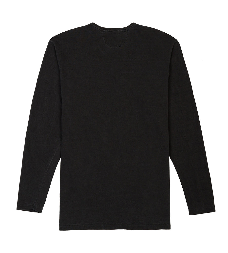 ls henley tube tee black detail two