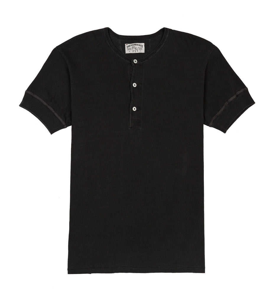 ss henley tube tee sunfade black detail one