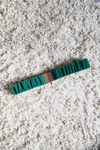 Ceinture sur-mesure en velours coloré vert sapin made in france