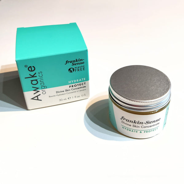 Awake Organics plastic free moisturiser with box