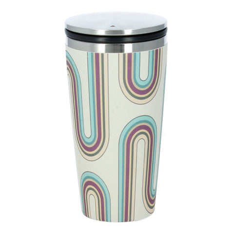 Retro design bamboo coffee flask