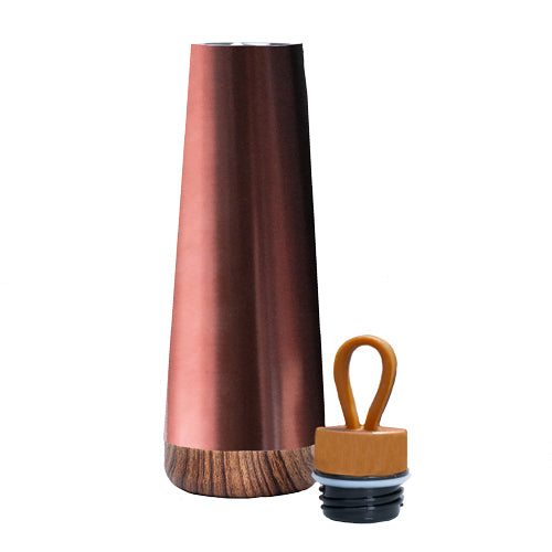 Bioloco Loop Copper Water Bottle - lid off