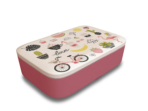 Classic Bamboo Lunchbox - pink