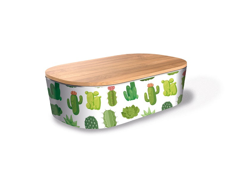 Deluxe Bamboo lunch box - cactus