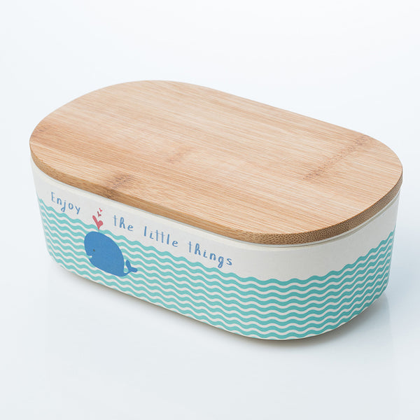 Deluxe Bamboo lunch box - Whale