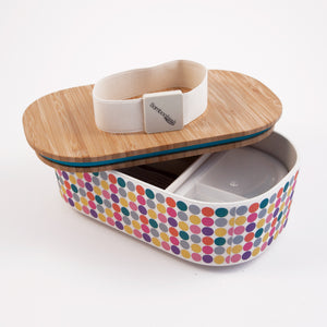 Deluxe Bamboo lunchbox - fun circles