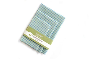 Vegan Wax Wraps 3 pack - Blue Gingham