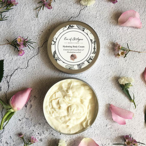 Luxury, natural, plastic free body cream