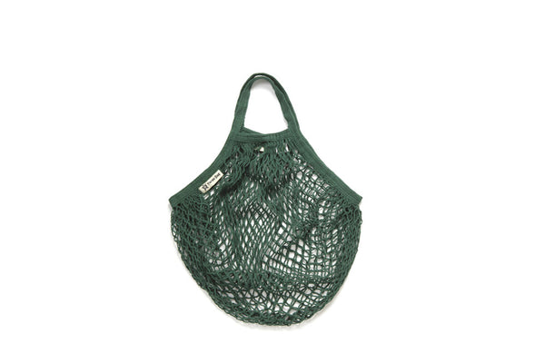 Turtle Bags short handled bottle green string bag