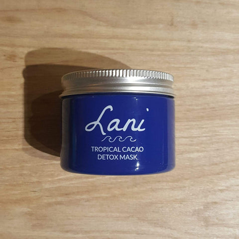 Lani Cacao Face Mask in blue glass jar