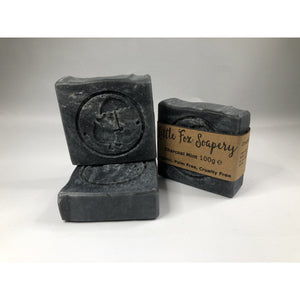 Handmade Vegan Soap - Charcoal and Mint