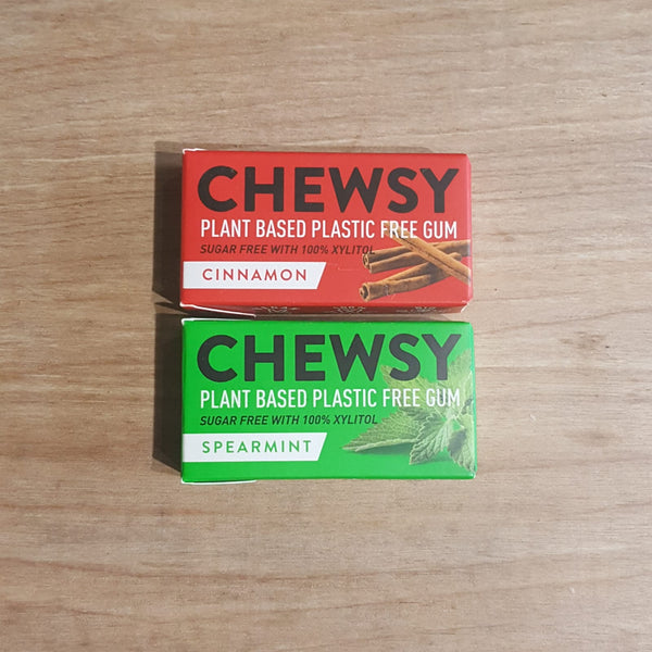 Chewsy plastic free chewing gum cinnamon and spearmint