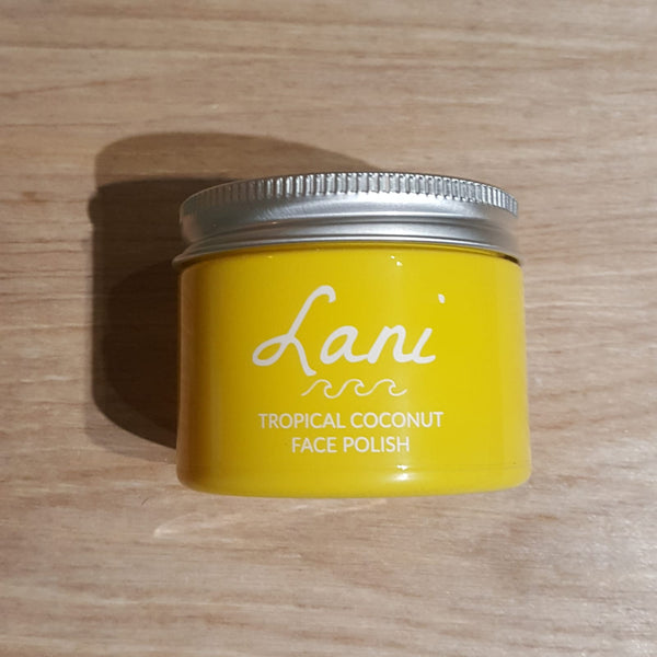 Lani plastic free face polish - yellow glass jar