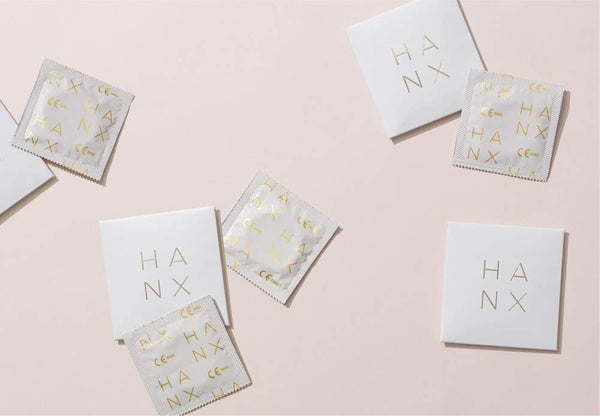 HANX Compostable, vegan condoms in foil wrappers
