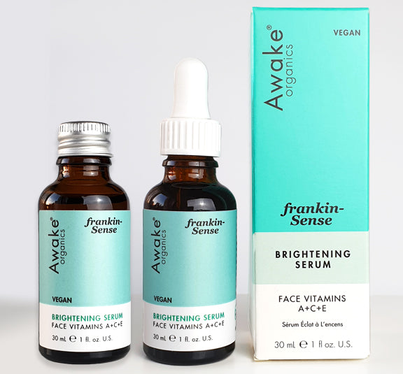 Awake Organics Frankincense serum with pipette and aluminium refill lid