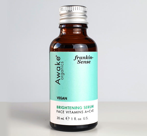 Awake Organics frankincense serum with aluminium lid