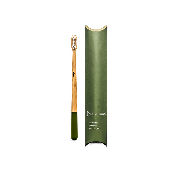 Bamboo toothbrush medium bristles grey