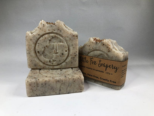 Handmade Plastic free Vegan Soap - Heather & Lavender