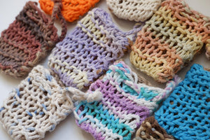 Jefferson Crafts soap saver bags in various colours