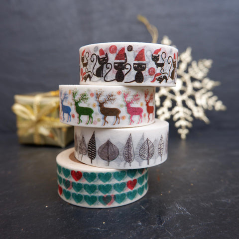 Naturally Wrapt - rice paper tape in four Christmas designs
