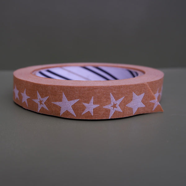 Naturally Wrapt roll of paper tape with star design