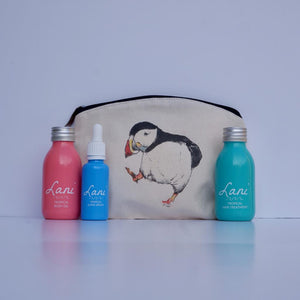 Lani Tropical Gift Set - Body oil, serum, hair treatment and puffin wash bag