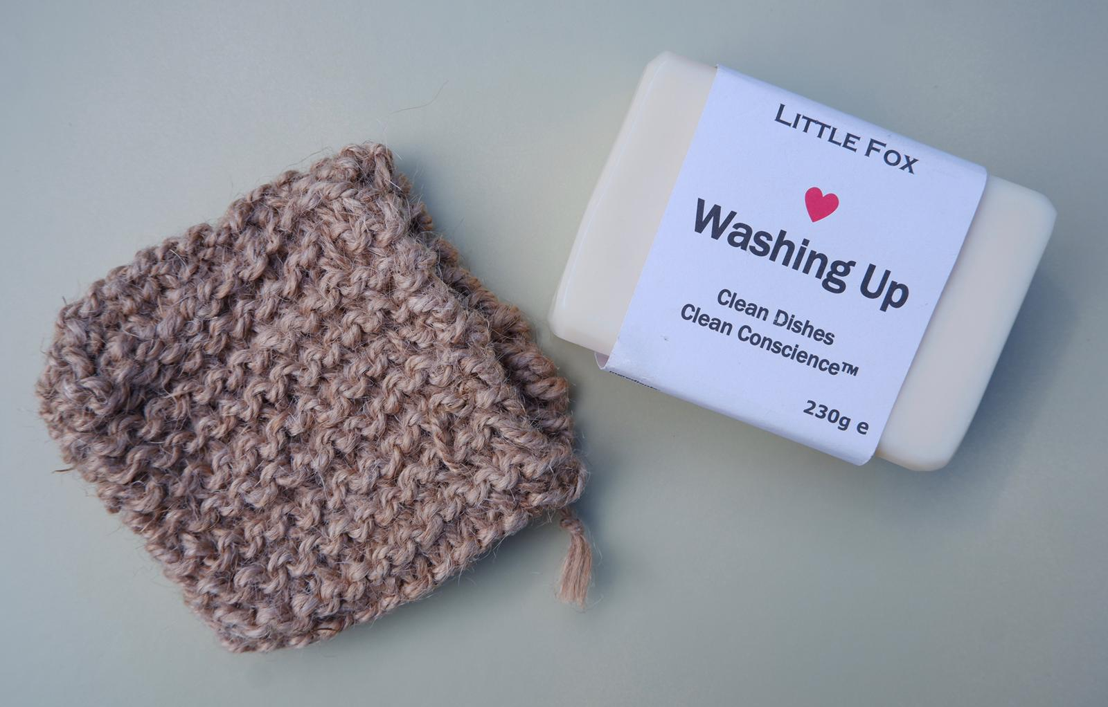 Jefferson Crafts Jute Soap Saver Bag with Washing Up Soap