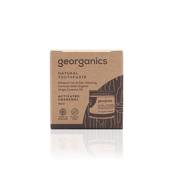 Georganics Natural Toothpaste - Activated Charcoal box