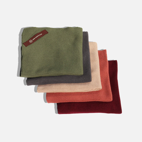 Organic cotton tea towels in 5 colours