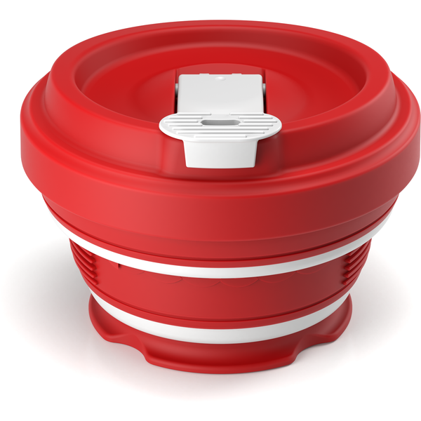 Collapsible reusable coffee cup  - red