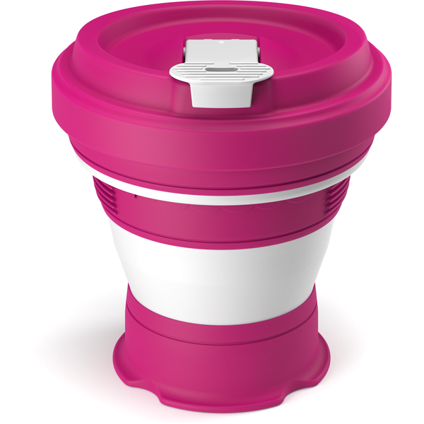 Collapsible reusable coffee cup  - pink