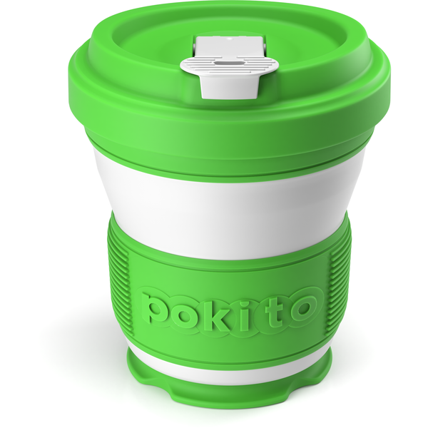 Collapsible reusable coffee cup - green