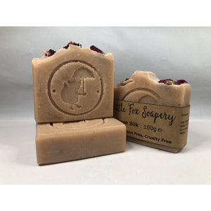 Handmade, natural plastic-free soap - Rose Silk