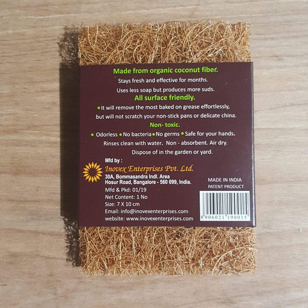 Natural Scrub pad back of pack