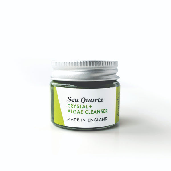 Awake Organics Sea Quartz plastic free cleanser - deluxe mini glass jar