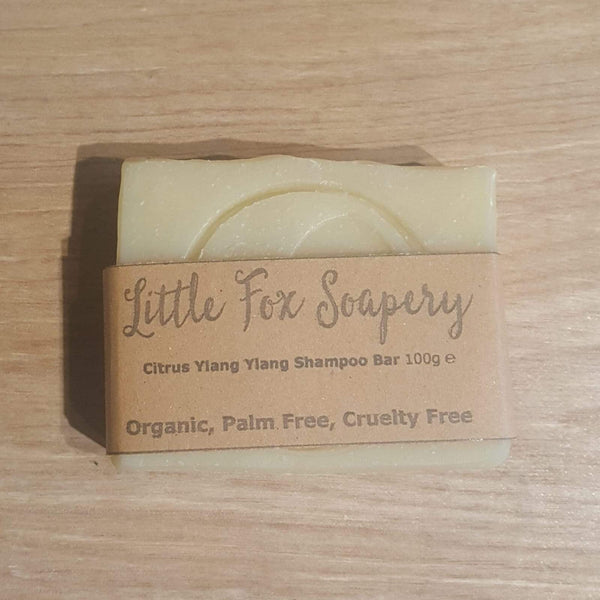 Plastic free shampoo bar with cardboard sleeve