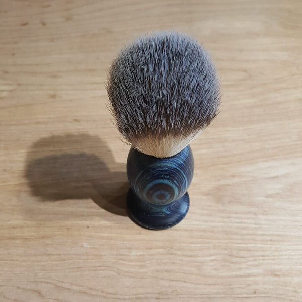 Vegan Shaving Brush - Blue, soft bristles