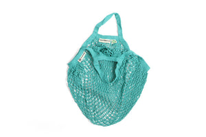 Organic Cotton String bag - Short handled Turquoise
