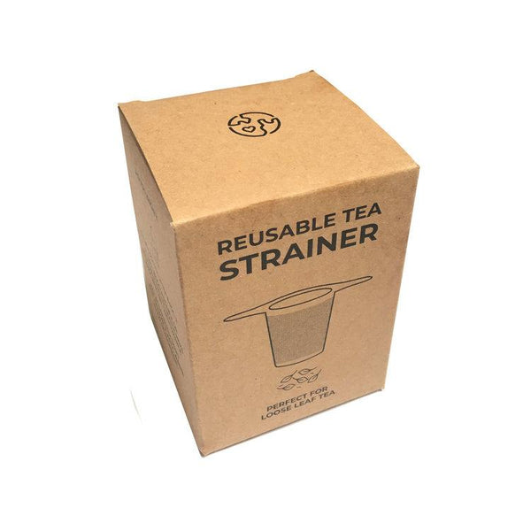 Zero Waste Club reusable tea strainer in cardboard box