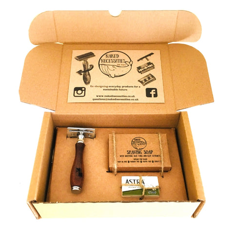 Plastic free Shaving kit