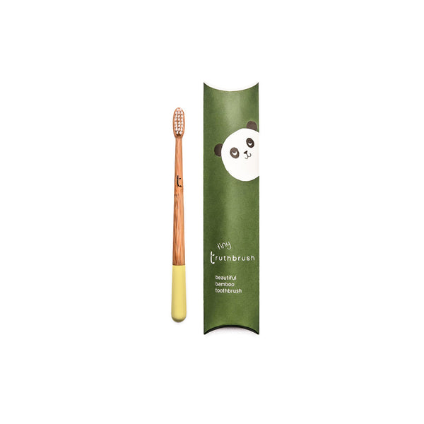 Kids Bamboo Toothbrush - yellow